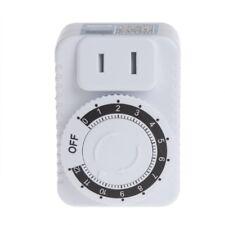 AC 220V 12 Hour Mechanical Wall Plug Switch Timer Socket Home Appliances Control