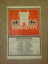 1982/83 York v Port Vale-división de cuatro