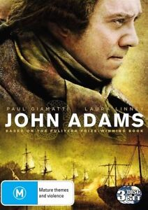 John Adams DVD GM6 3-Discs. Genuinely satisfying Founding Father miniseries