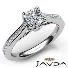 Engagement Ring Gia F-Vs1 White Gold 1.13ctw Channel Bezel Prong Cushion Diamond