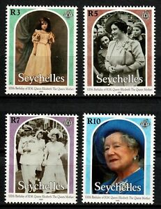 Seychelles stamps 2000 Set MNH - 100th Birthday Queen Mother