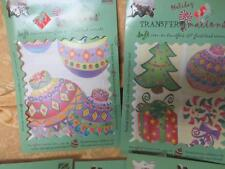5 sets Christmas soft iron on transfers & Glass Bead Accents Creative Beginnings