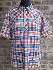 50s 60s vintage plaid check Jack in the box shirt fast food uniform Western Mod