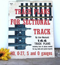 2 Model Railroading Plan Guides Sectional Track Layouts HO 0-27 S & O