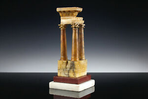 Grand Tour Modell Tempel Vespasian Rom 19. Jahrhundert Siena Marmor Marble