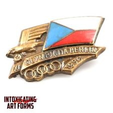 OLYMPIC SUMMER GAMES BERLIN GERMANY 1936 CZECHOSLOVAKIA NOC PIN