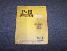 P&H 855B-G Crane Shovel Boom Factory Original Parts Catalog Manual Manual Book