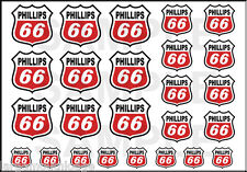 NEW PEEL & STICK 1/2 3/8 1/4 INCH PHILLIPS 66 RED 25 DECAL SHEET DIORAMA MODEL