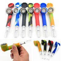 Smoking Pipe Set Resuable Silicone Cigarette Tubes Portable Travel Tobacco Pipes