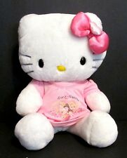 """Build-A-Bear Hello Kitty Plush 18"""" White w/Pink Bow and Pink Outfit Included EUC"""