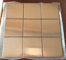 """4"""" x 4"""" Stainless Steel Brushed Metal Tile - 1 sqft: 9 Tiles"""