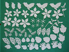 "51 Tattered Lace Die Cut Filigree ""Christmas & Winter Floral"" Embellishments"