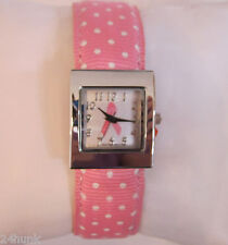NEW Ladies Pink Breast Cancer Awareness  Watch, Dots