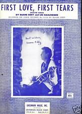 DUANE EDDY Sheet Music FIRST LOVE, FIRST TEARS Criterion Publ. Lee HAZELWOOD pop