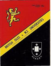 BRITISH LIONS 1971 v NZ UNIVERSITIES RUGBY PROGRAMME