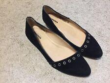 Sonoma Hadlee Suede flats Shoes Ladies size 7.5 Black 7-1816A