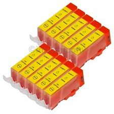 10 Cartuchos para Canon + Chip CLI 521 AMARILLO IP 3600 4600 4700 MP 540 MP550