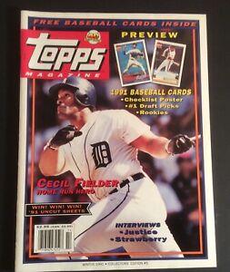 Topps Magazine Winter 1991 #5 w/8 Baseball Cards Mark McGwire Darryl Strawberry