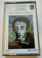 CLAUDIO ARRAU: Chopin - 4 Ballades Fantaisie Op. 49 Cassette Tape