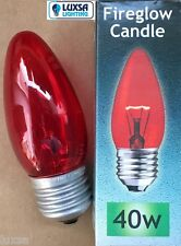 Crompton 40W ES Fireglow Red Replacement 40 Watt E27 Fire Glow Bulb Lamp