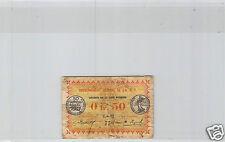 AOF COTE D'IVOIRE 50 CEMTIMES 11 FEVRIER 1917 Z-92 N° 750