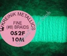 Kreinik Braid #8 052F Grapefruit Thread Fine 10M Glow In Dark Cross Stitch