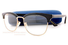 a2287c01606ba Brand New GUCCI Eyeglass Frames GG 0409 OK 001 Black Gold For Unisex Size