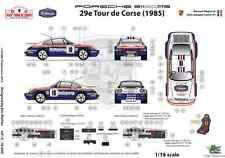 Ffsmc Productions Decals 1/18 Porsche SCRS Tour de Corse 1985