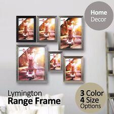 "4""x6"" 5""x7"" 8""x10"" A4 Lymington Range Photo Frame Silver Gold Black Picture Gift"