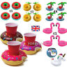 4 x Inflatable Floating Drink Can Cup Holder Hot Tub Swimming Pool Beach Party