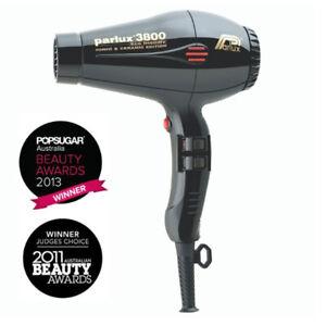 NEW, Parlux 3800 Eco Friendly Ceramic & Ionic Dryer 2100W - Black