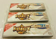 3 Packs Superfine Vanilla Ice JUICY JAY'S  1 1/4 Cigarette Rolling Papers