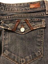 Paige Pair Fak Boot Cut Distressed Jean Women's Flap Pocket Stretch Size 29 X 31