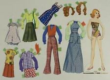 Vintage Paper Doll Lot Toy 1973 MATTEL FRANCIE Barbie With Outfits