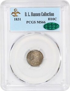 1831 H10c PCGS/CAC MS66 - Early Half Dimes - Lovely and Original Gem