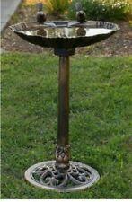 32 in. Birdbath with 2 Birds - Bronze