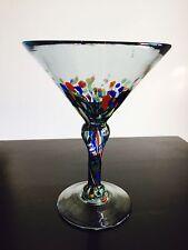 Mexican Confetti Handblown Martini Glass Mexico