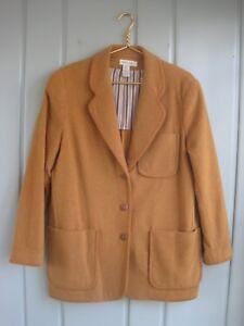 Ann Taylor Womens Small 4 6 Brown Wool Button Blazer Jacket Boxy Career Work