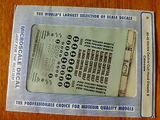 Microscale Decal N #60-42  ICG Diesel Hoods - Orange & White Scheme (1972 - 79