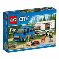 Lego City 60117 Great Vehicles VAN & CARAVAN adventure Dog Camping Camper NISB