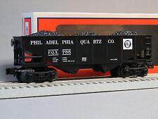 LIONEL PHILADELPHIA QUARTZ 2 BAY HOPPER COAL LOAD o gauge train car 6-82072 NEW