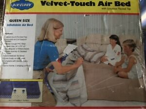 Brand New Air Cloud Velvet-Touch Air Bed, Queen Size/Great Pool Floatie