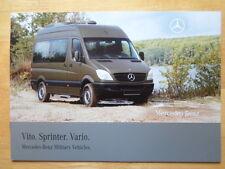 MERCEDES Vito Sprinter & Vario rare 2008 Military Vehicles brochure