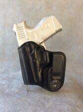 IWB Glock 43 Concealed Tuckable CustomLeather Holster with SweatShield Left Hand