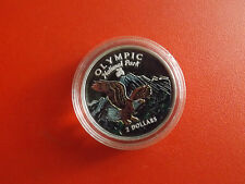 Cook Island 2 Dollars 1996 Silber PP/Farbe *Olympic National Park(Schub56)