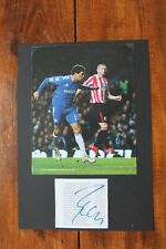 More details for michael ballack (chelsea fc & germany) hand signed mounted a4 picture
