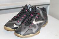Nike Lebron XI Miami Nights 11 Black Carbon Silver Pink 616175-003 Sz 11