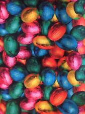 Colorful Foil Wrapped Easter Egg Chocolate Candy Digital Food Cotton Fabric Fq