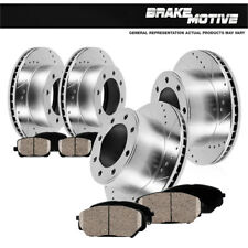 Front And Rear Drill Slot Brake Rotors And Ceramic Pads Dodge Ram 1500 2500 3500