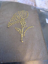 Vintage M&S Golden Flower Motif on one ankle Tights in Black Size Small